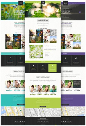 ZEN is a perfect WordPress theme for those who desire simple but bold and contemporary look, wit ...