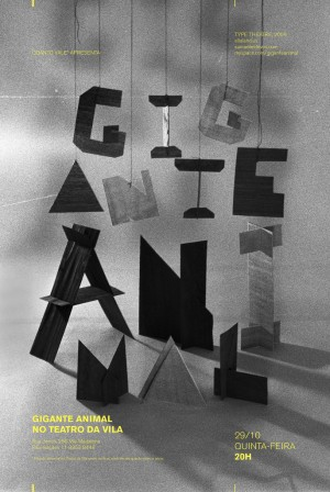 sculpture typography / black & white | typography / graphic design: Daniella Domingues