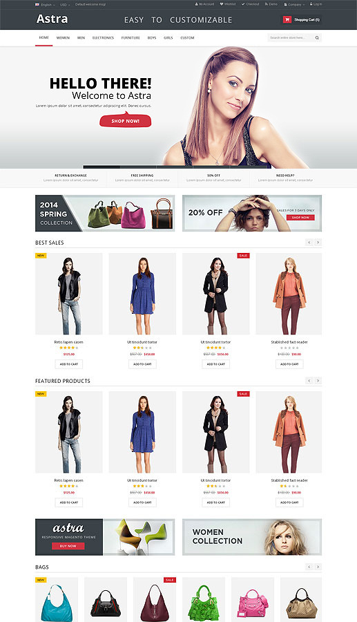 Astra – Responsive Multi Purpose Magento theme