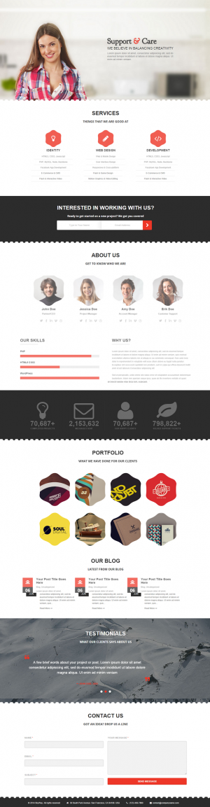 Skyway is a fully responsive page portfolio, provided with high quality design & support, su ...