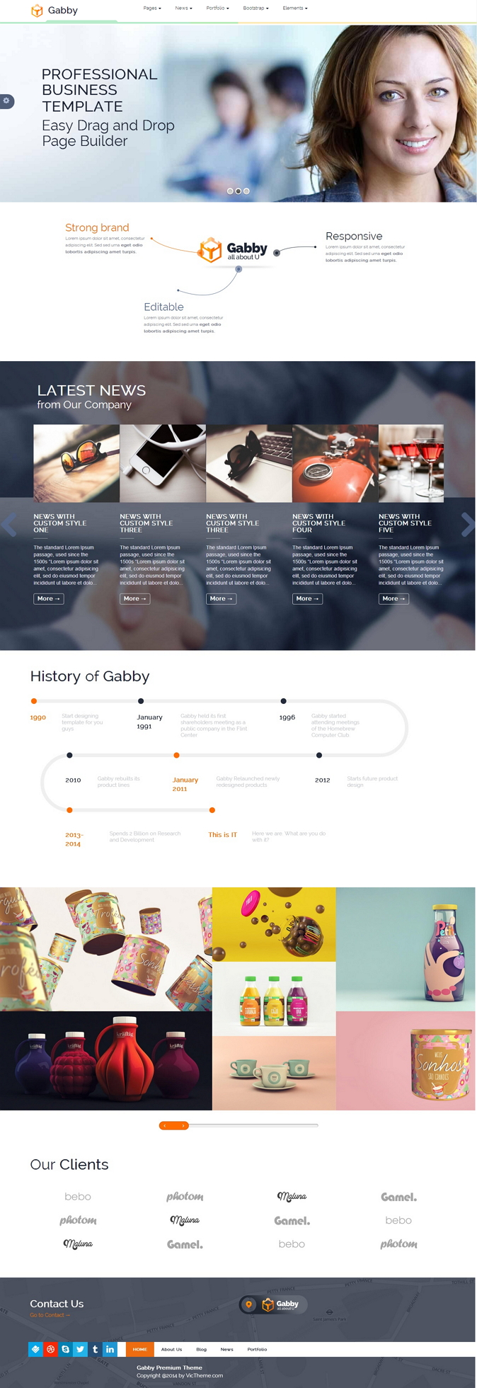 GABBY is a unique, elegant, flexible and fully responsive WordPress theme which is compatible wi ...
