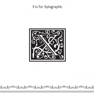 A-Z of Logo Design – X is for Xylographic
