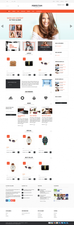 Perfectum is an premium Responsive PrestaShop theme with powerful admin panel, multiple layouts, ...