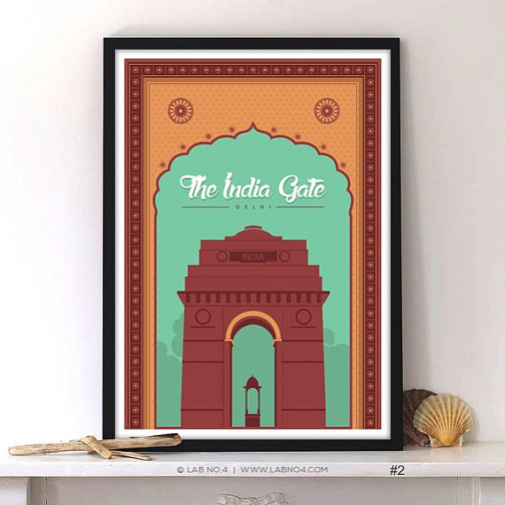Famous The India Gate All India War Memorial New Delhi by Lab No. 4