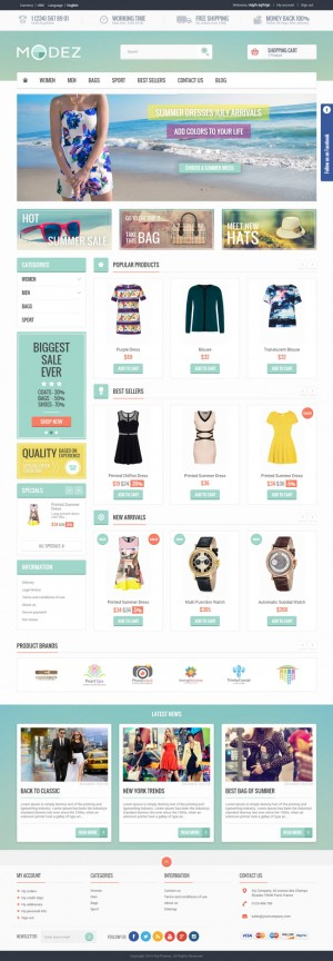 MODEZ is an premium Responsive Prestashop 1.6 Theme with Blog and Customizer Module. It is fully ...