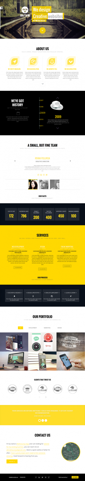 BIRVA is a perfect theme for a variety of uses from blogs to personal or business portfolios.