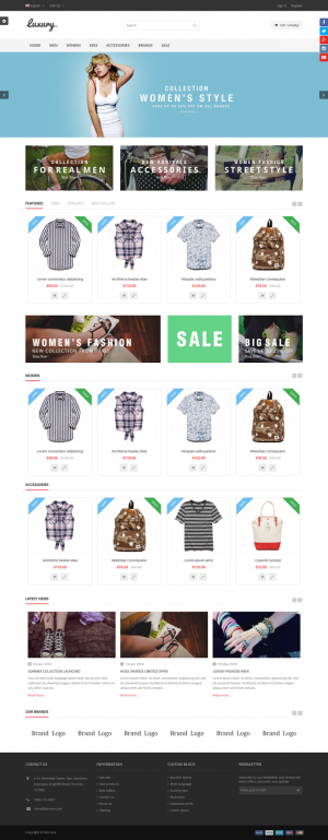 LuxuryShop is the ultimate Prestashop theme and its extremely customizable, easy to use and full ...