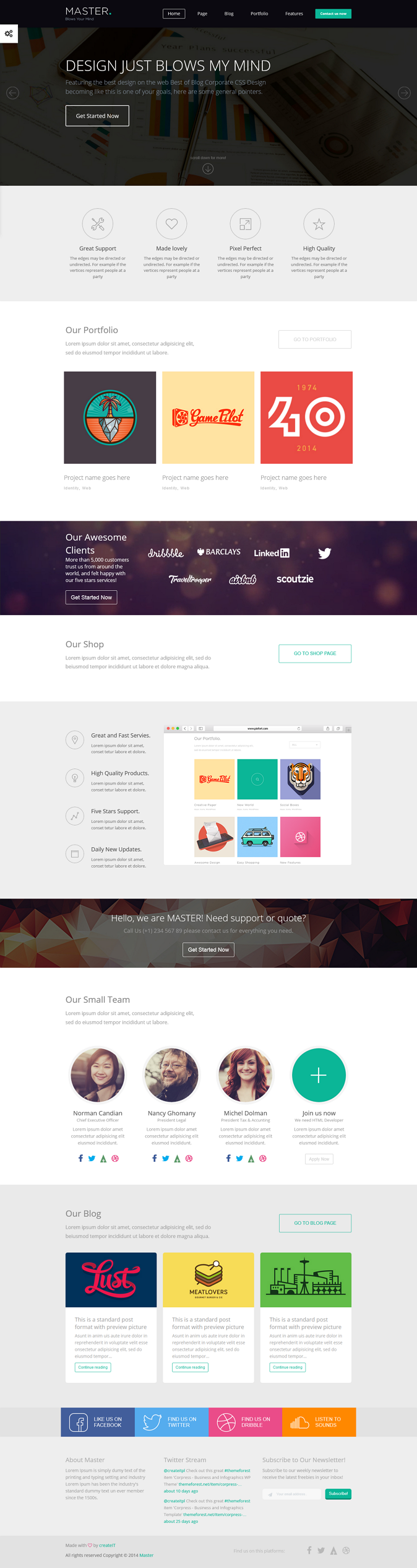 MASTER is an corporate Multipurpose one page HTML Template. This theme is perfect for any corpo ...