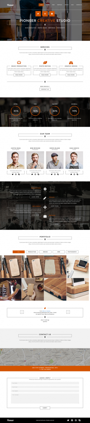 Pioneer- is clean One page Joomla Template and retina ready. It is great, professional and easy ...