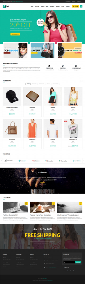 Theme is designed for fashion site but can easily modified to adapt to other fields with fully f ...