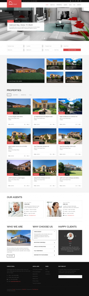 Real Estast, as the name has implied, is a theme for a Real Estate company. This can also be use ...