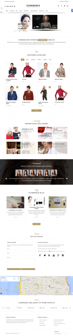 The iCommerce Prestashop theme is a professional eCommerce, online marketing theme coded with Bo ...