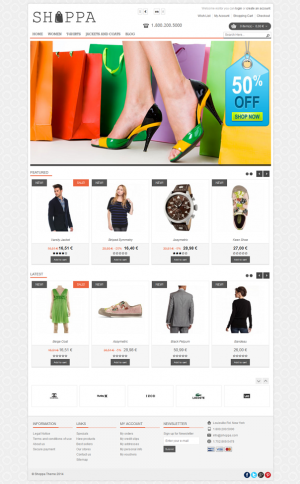 Shoppa is a modern responsive Prestashop theme which is suitable for any eCommerce sites about f ...
