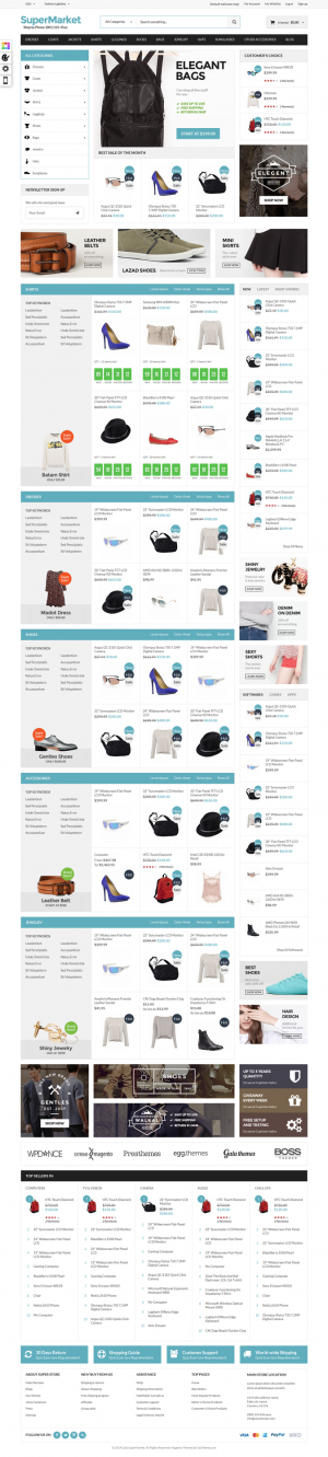 Gala Supermarket is a premium Magento theme with advanced admin module. It's extremely customiza ...