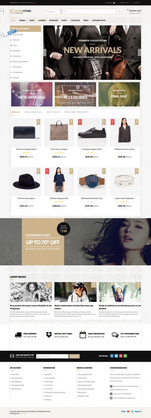 Leo Super Store is a prestashop responsive theme support multi store. If you are a merchant who ...
