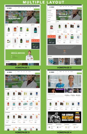 Pharmacy is a Woocommerce Responsive WordPress Template suitable for any kind of Pharmacy Shop, ...