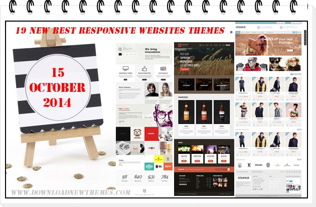 19 New Best Responsive Websites Themes (15th Oct 2014)