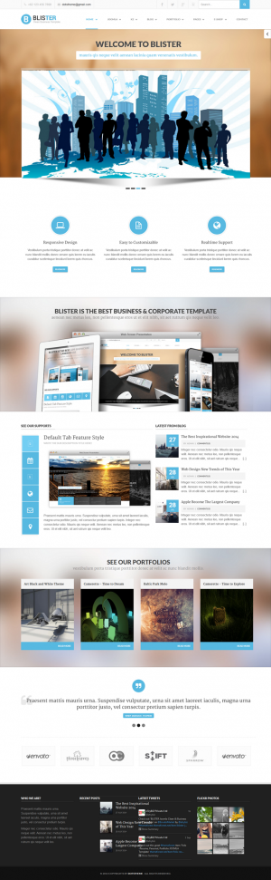 Blister Joomla is a responsive Business site template that has clean and elegant design for busi ...