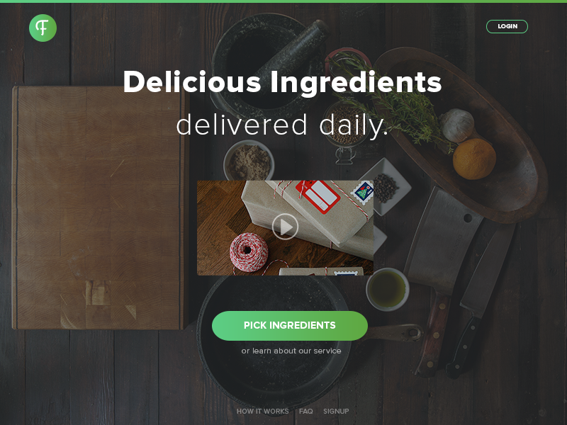 Food Delivery | UI Web Design