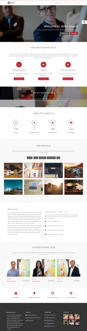 Delta is a multipurpose Drupal 7 theme based on bootstrap.