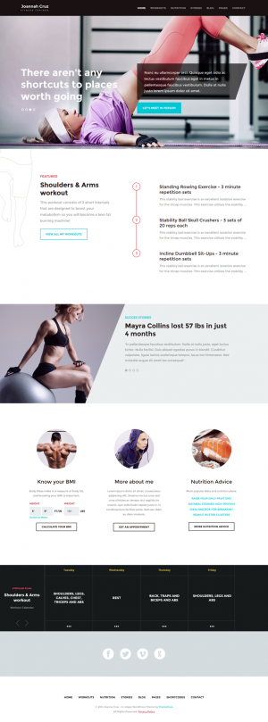 InShape is an perfect WordPress Theme for personal trainers, fitness aficionados and even sport ...