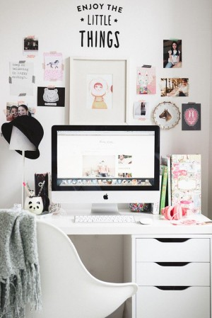 Fun + Feminine Desk Organizing