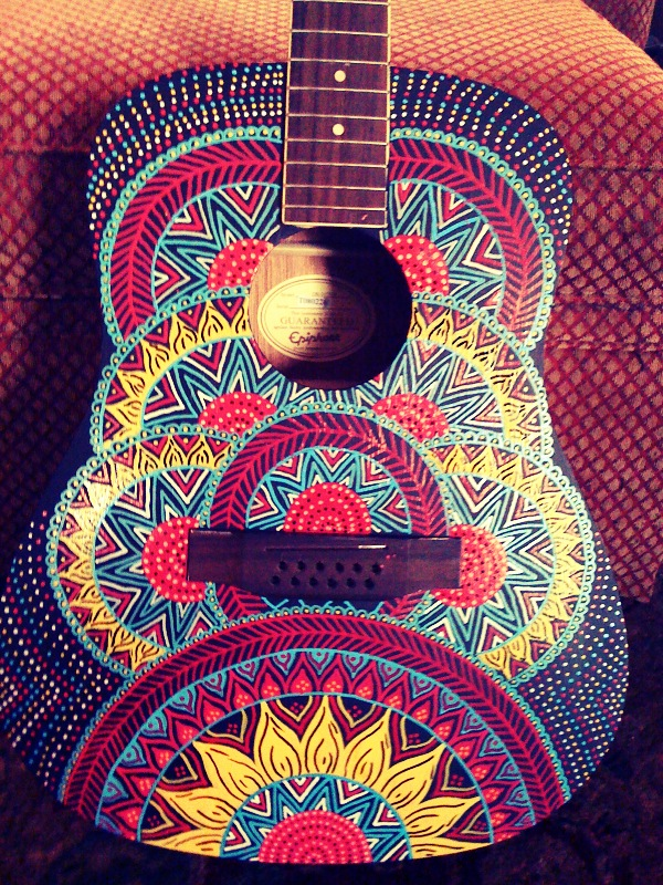 Painted guitarby Red Lotus Designs Lexington