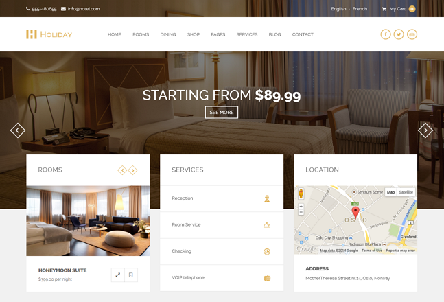 Holiday WordPress Theme was designed and developed to be used for the business niche of hotels, ...