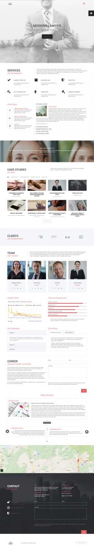 MONOPOL is responsive multipurpose WordPress theme suitable for lawyers, business, companies or ...