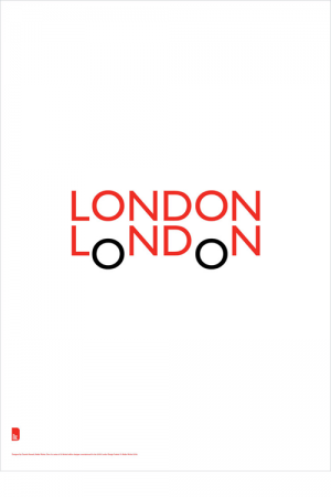 """The """"LONDON LoNDoN"""" poster is designed by Quentin Newark of Atelier Works."""