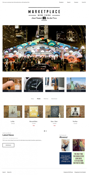 Nui is a next generation Shopify theme, with an innovative hidden menu system., instagram integr ...