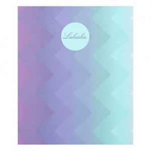 Customize with Your Name or Monogram purple, aqua Ombre Chevron fleece blanket