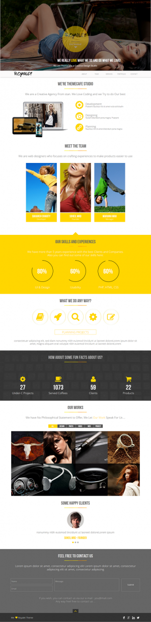 Royalet is a clean and professional theme for agencies or creative studios. It can be customized ...