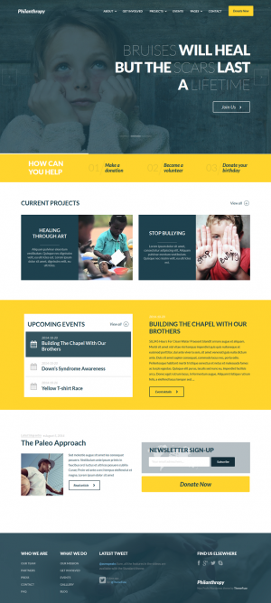 Philanthropy is a responsive nonprofit WordPress theme that has all it takes if you are looking ...