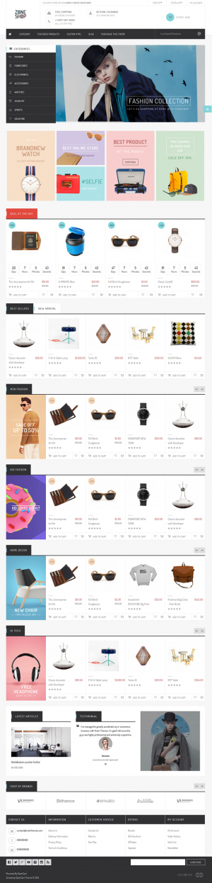 Zoneshop is an marvelous shopping OpenCart theme. This template is purely designed for retailer ...