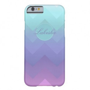 Personalized Name Ombre Chevron iPhone 6 Case | Zazzle