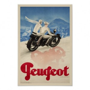 Vintage motorcycle ad poster motorbike bike wheels