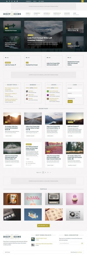 Amazing theme for creative entrepreneurs, all you need for set up a successful online magazine a ...