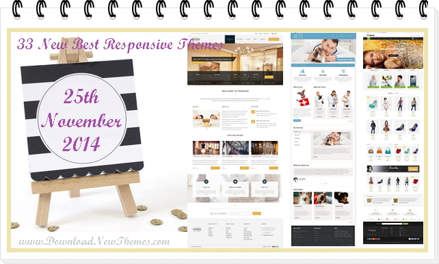In this article, we have collected 33 new best Responsive websites themes of 25th November 201 ...