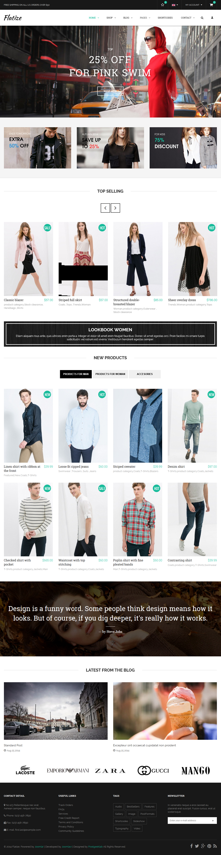 If your online store needs a modern & balmy looking, elegant & super flat design. You ca ...