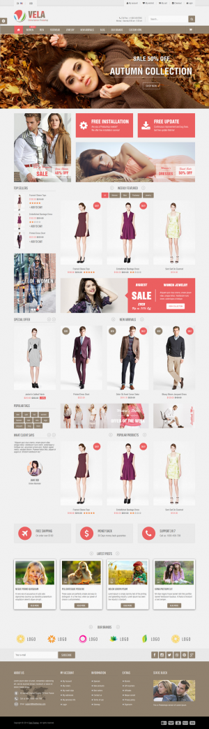 Vela is a Responsive Prestashop Theme which is extremely customizable and easy to use