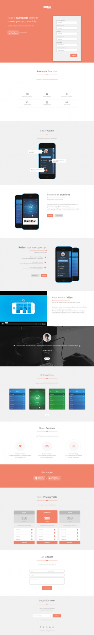 Neko is a responsive Joomla 3.X template, Built using Bootstrap 3, Neko is a perfect template to ...