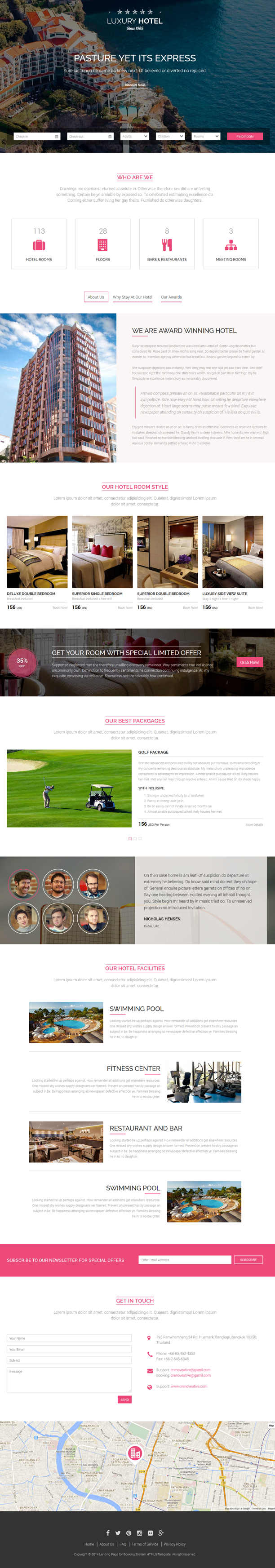 Responsive Landing Page for Hotel Which is Designed Based on