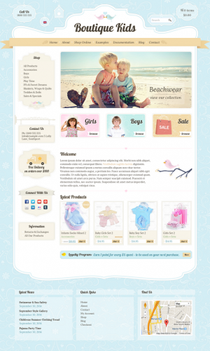 This theme is perfect for any clothing store, toy shop, kids, family, creative, children's ...