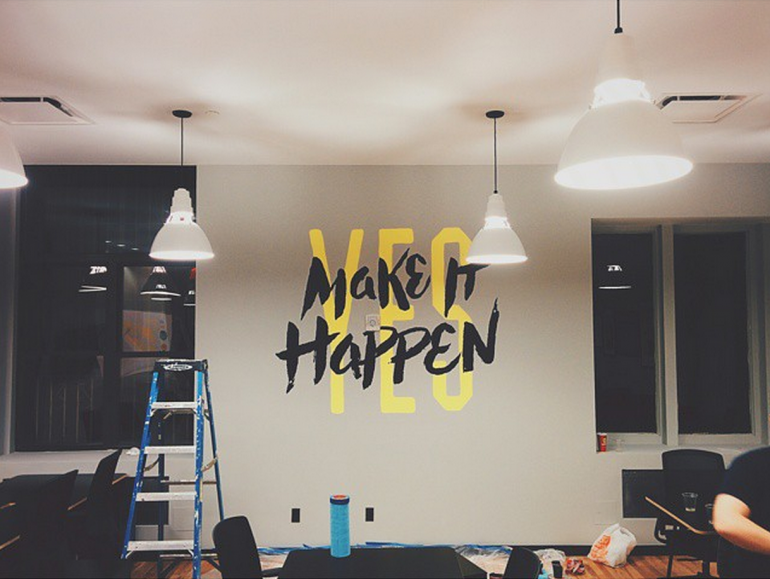 Painting Make It Happen by Jeremiah Britton