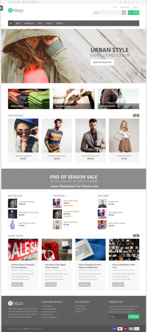 Trizzy is powerful multipurpose responsive Drupal Commerce Theme, excellent compromise among the ...