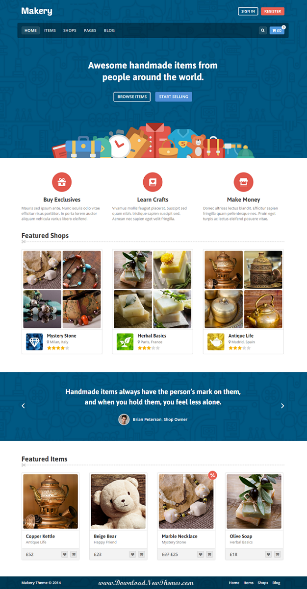 Makery is a perfect theme for any marketplace website. It's not just a theme, but application wi ...