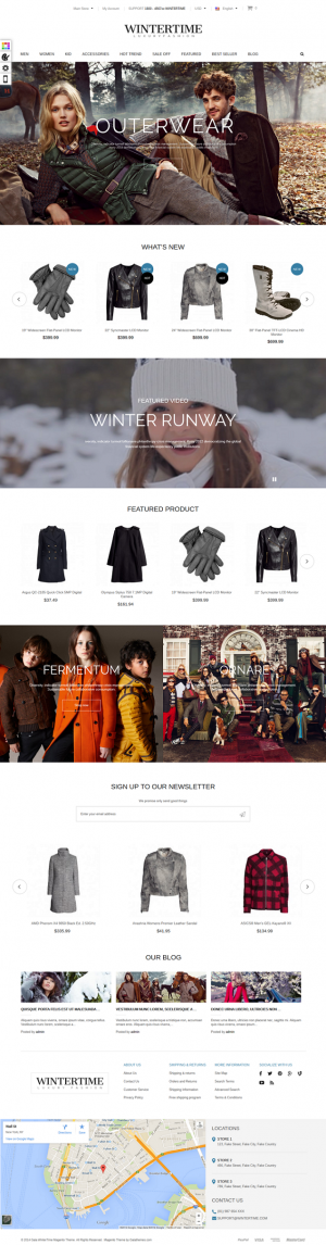 Gala WinterTime is a premium Magento theme with advanced admin module. It's extremely customizab ...