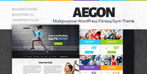 Aegon is a modern Gym/Fitness Club WordPress theme.