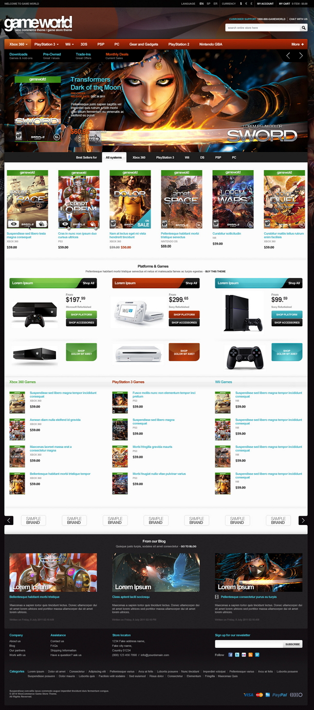 GameWorld is fully responsive premium WordPress theme. It has 2 different eye catchy homepages d ...